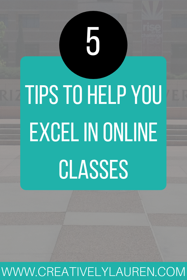 Five Tips to Help You Excel in Online Classes