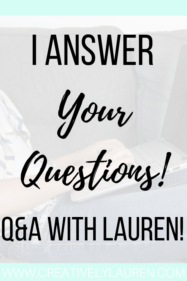 I Answer Your Questions!